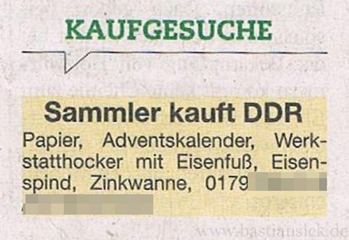 "Sammler kauft DDR_WZ (""blick"" Chemnitz letzte September 2014) von Wolfgang Claus 05.10.2014_kv7wd9e7_f"
