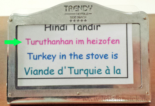 "Turuthanhan_WZ (Trendy-Hotel ""Side Beach"", Side, Türkei) (c) Jürgen Lindert 27.04.2015"