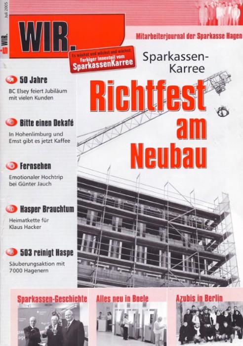 2005-07_Wir_Mitarbeiterjournal_der_Sparkasse_Hagen_Cover