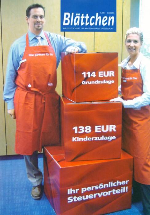 2006-10-26_Blattchen_Hauszeitschrift_Kreissparkasse_Dusseldorf_Cover
