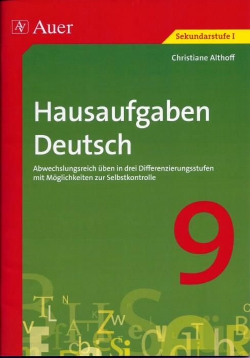 2012-09_Auer_Hausaufgaben_Deutsch_Cover