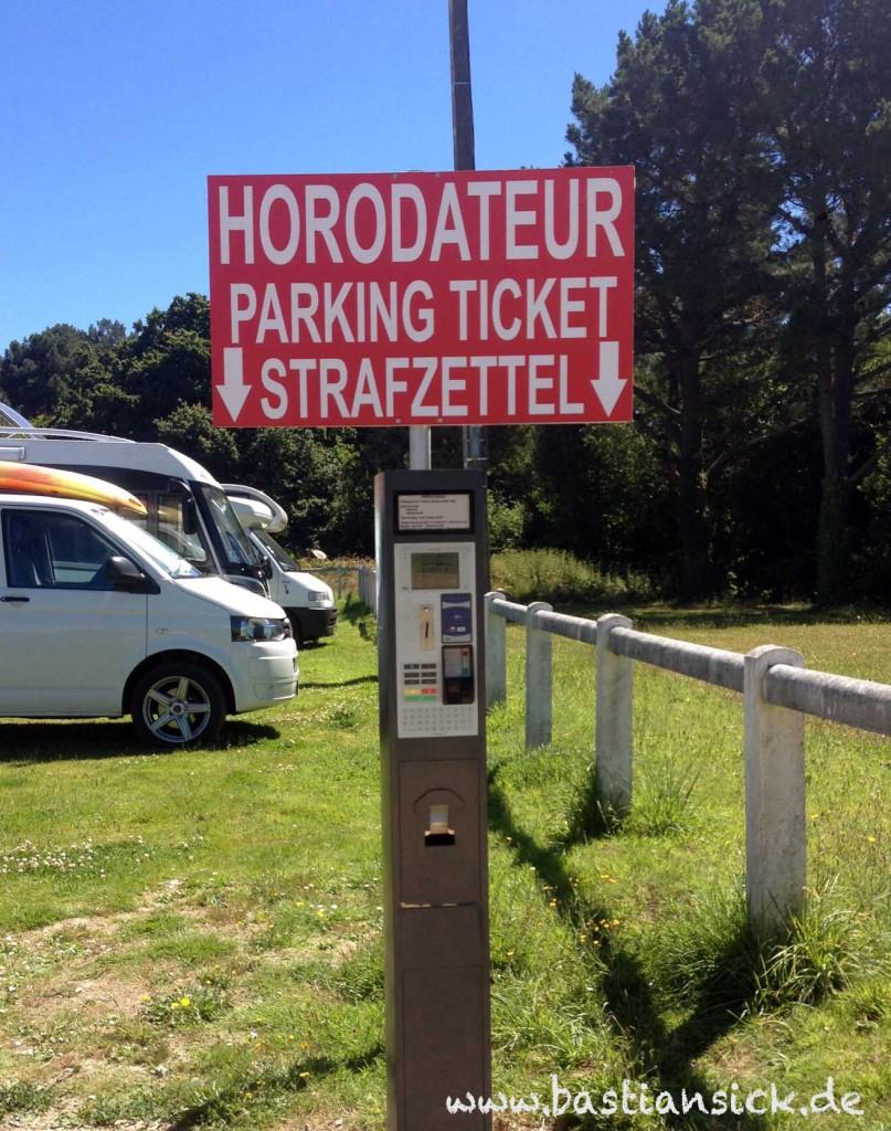 Strafzettel (statt Parkschein) Perros-Guirec, Bretagne, Frankreich © Jochen Flöthe 21.7.2016_WZ