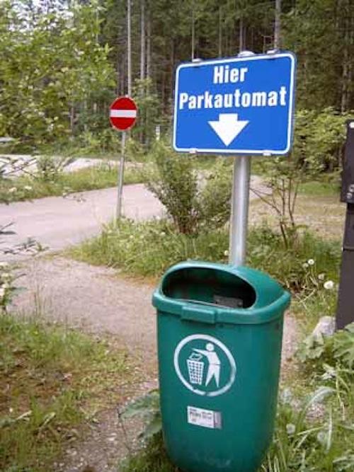 widerrechtliches parken auf privatparkplatz