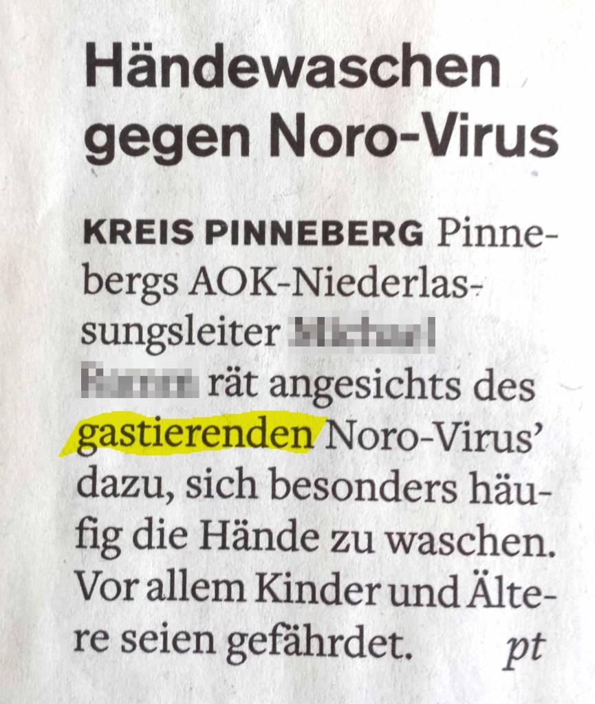 gastierendes Virus (markiert)