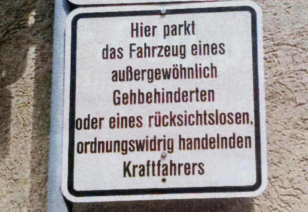 Parkplatz für Rücksichtslose