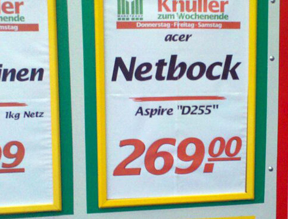 Netbock (Marktkauf Gütersloh) © Jasmin Hofemann 24.1.2011