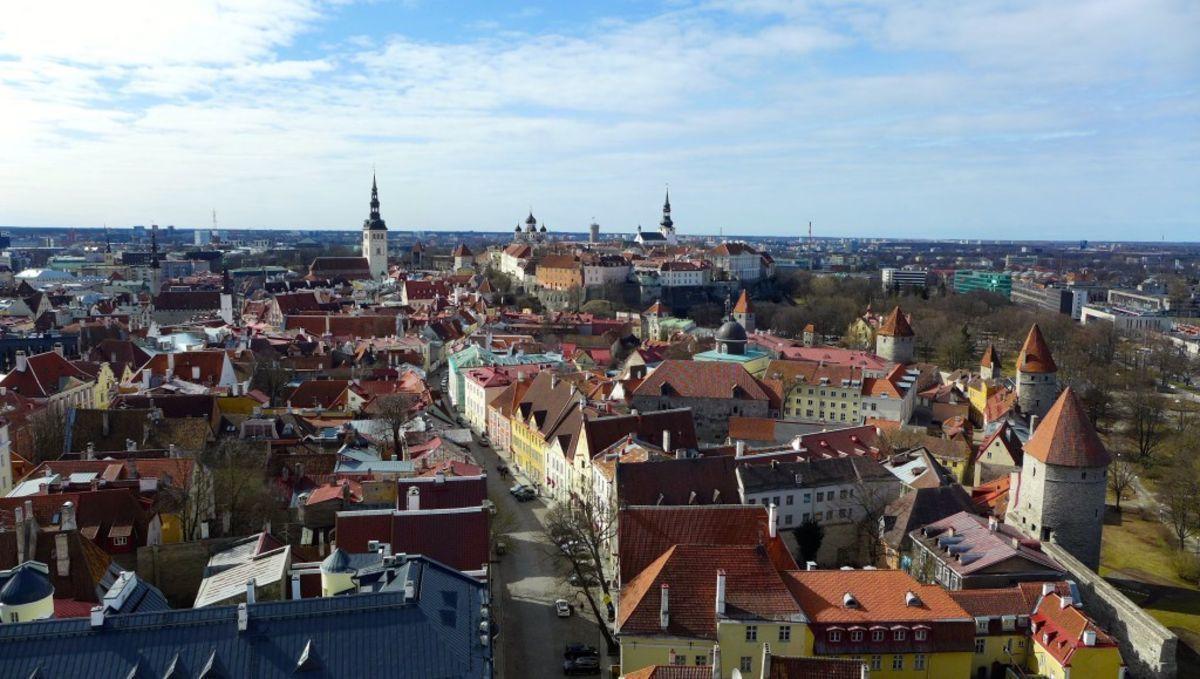 Tallinn, Blick von der Olaikirche